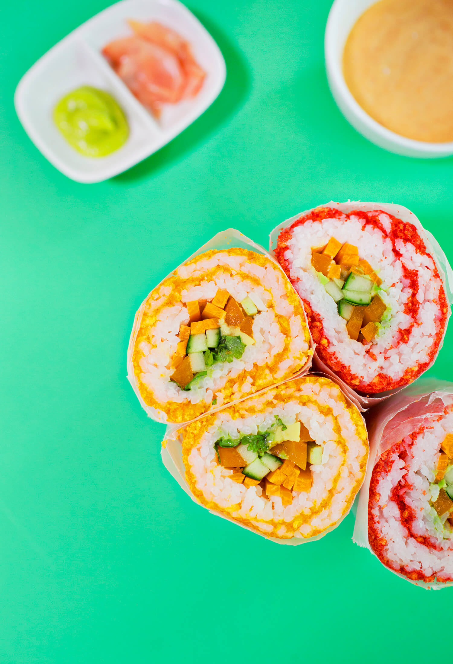 Easy sushi burrito method
