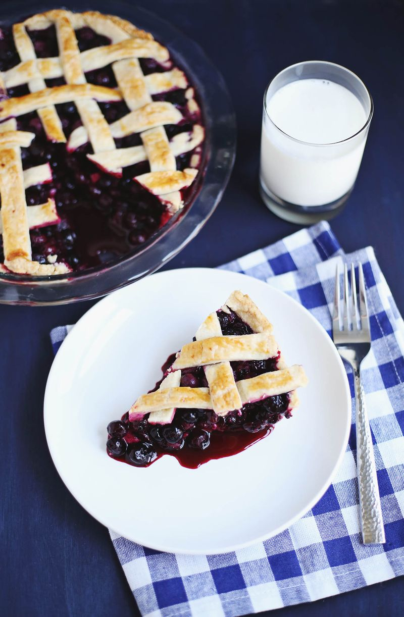 Zesty Blueberry Pie (click through for recipe)