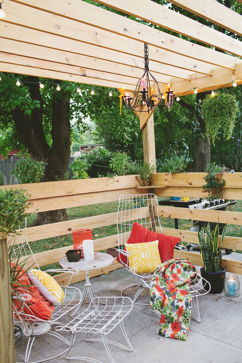 Build a pergola - before (click through for more info)