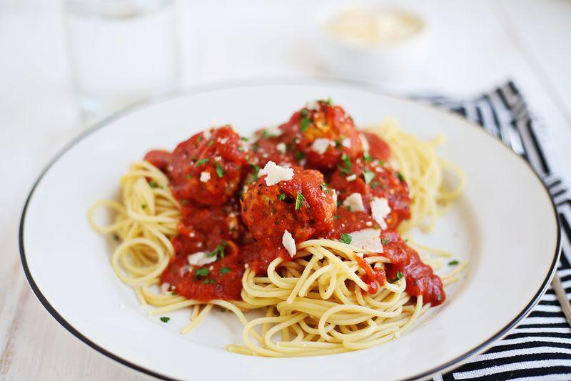Vegetarian meatballs (click through for recipe)