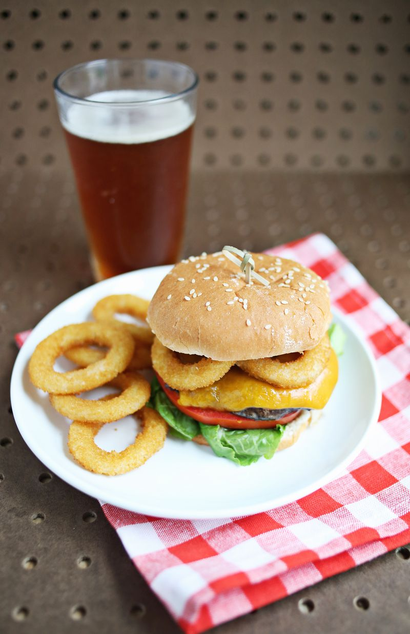 Portobello beer burger (click through for recipe)