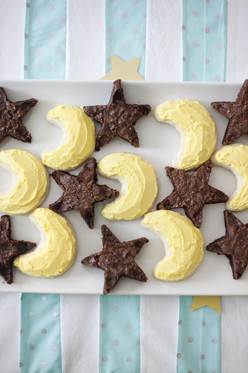 moon and stars cookies and brownies