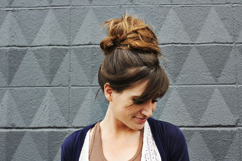 How to style a top knot