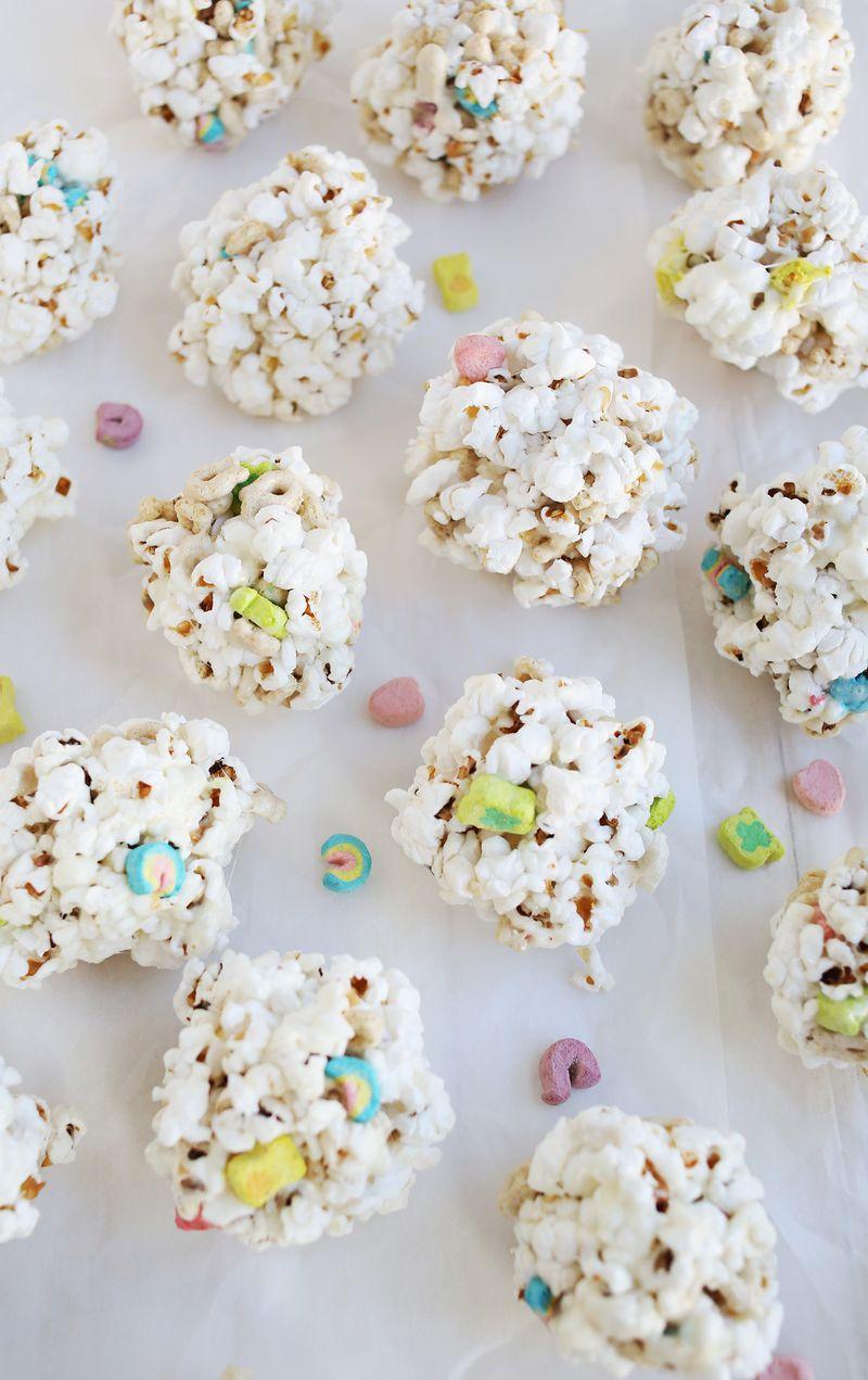 Breakfast cereal popcorn balls