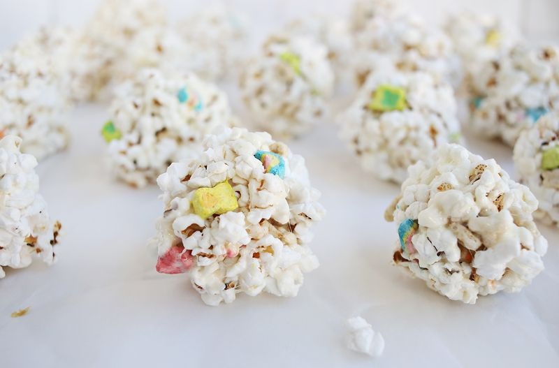 Homemade popcorn balls