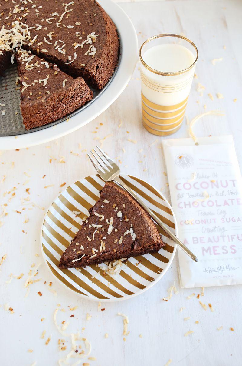Flourless chocolate cake from A Beautiful Mess