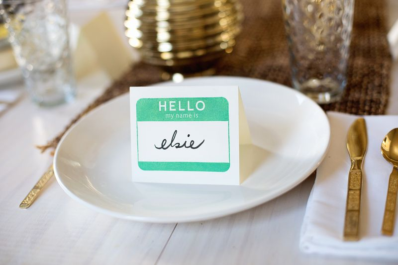 Quick and easy way to use stamps to create place cards (click through for more)