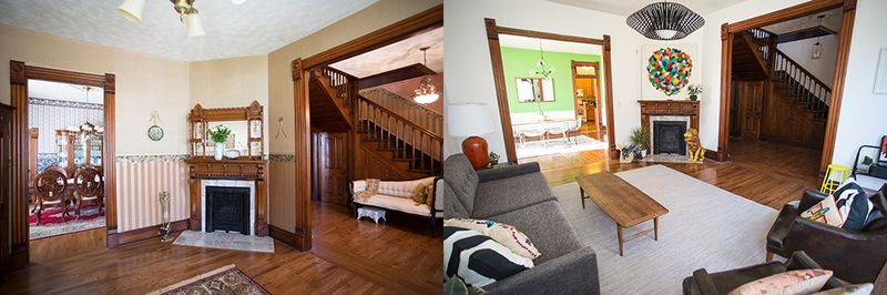 Sarah's living room tour - before and after!