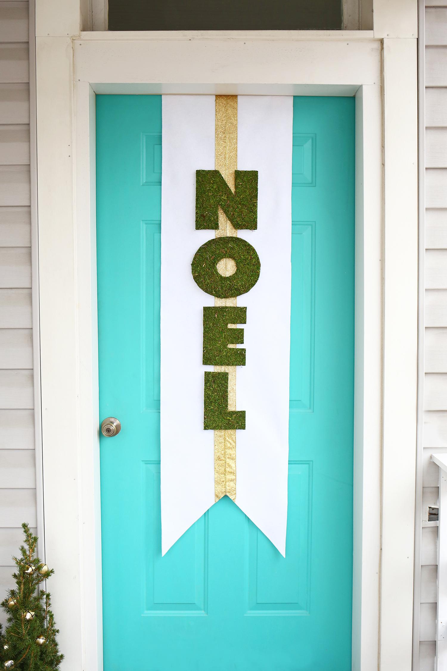 Diy Noel.Holiday Door Banner Diy A Beautiful Mess