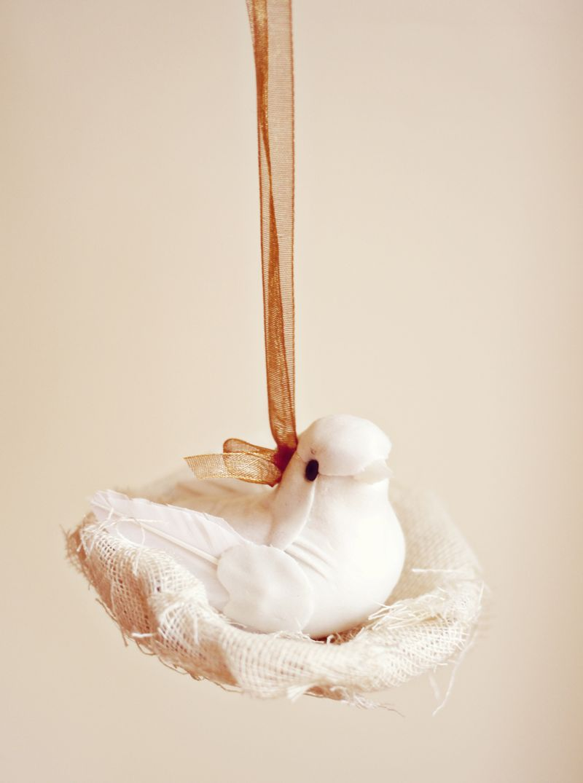 Birds nest ornament