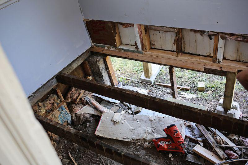 Laundry room missing floor