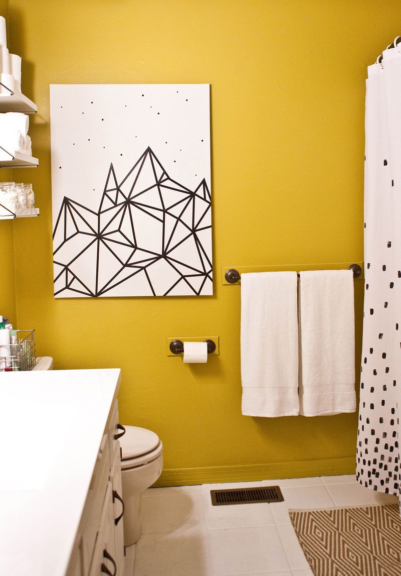 Try This Easy Washi Tape Wall Art A Beautiful Mess