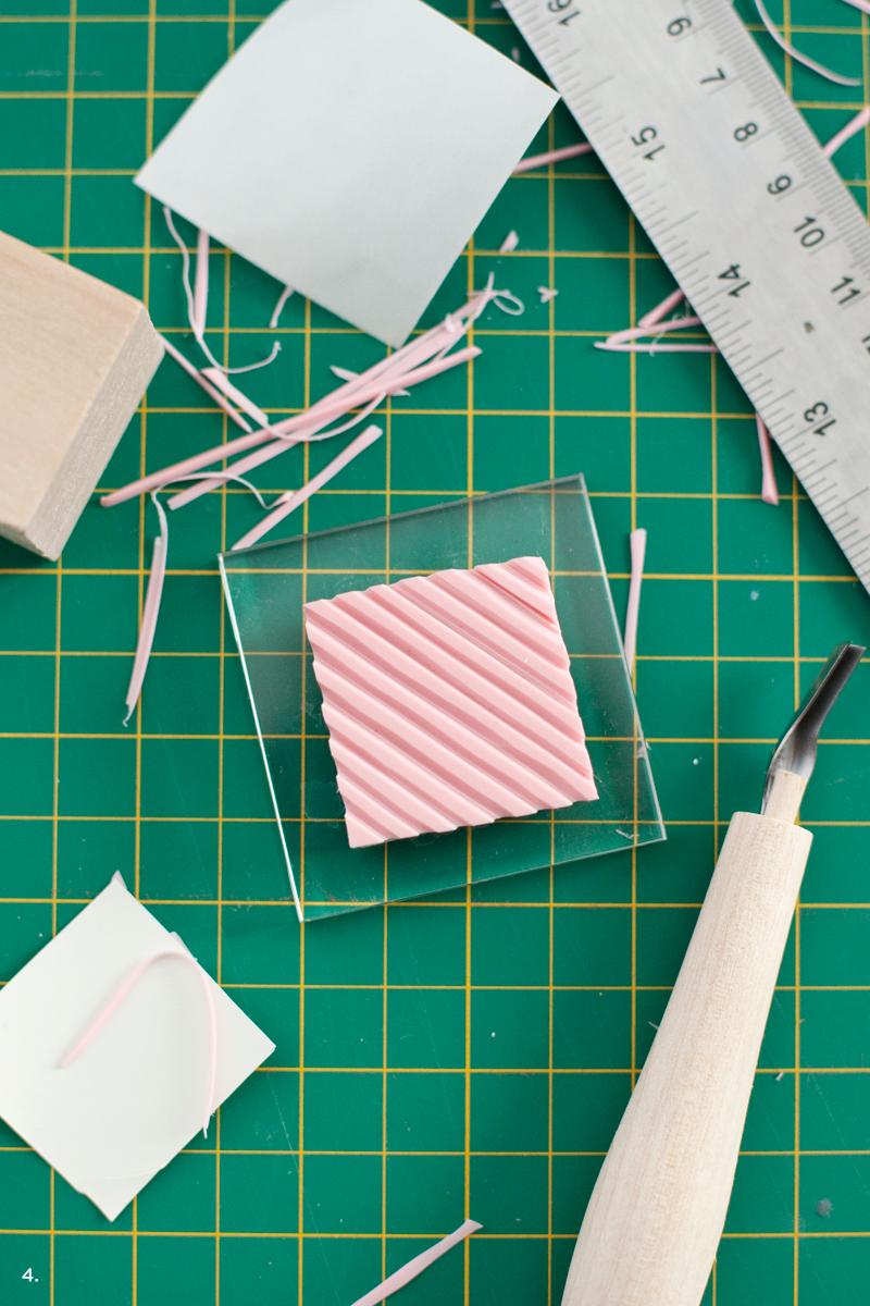 Add a buffalo plaid pattern to your crafts with this easy DIY stamp set.