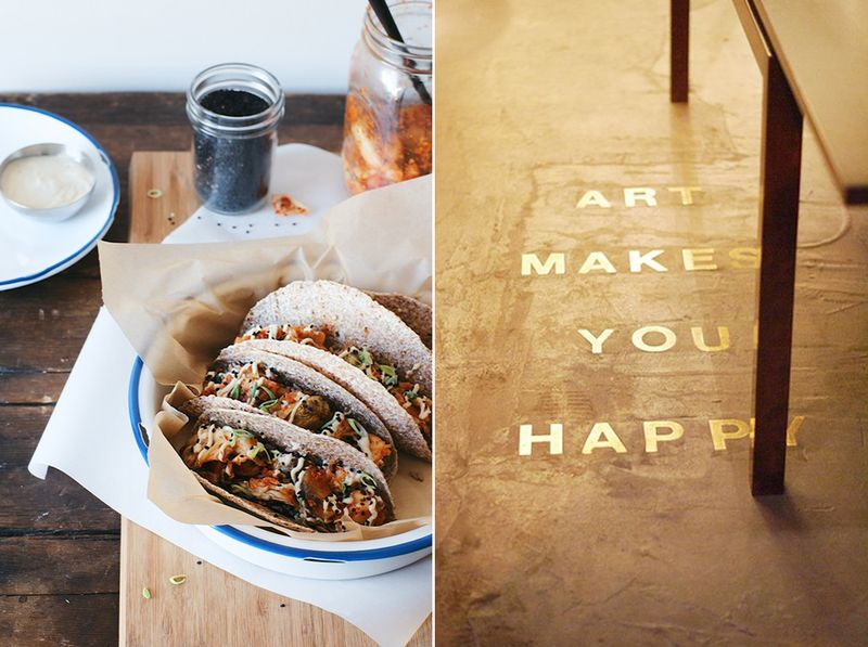 Tacos and a pretty floor