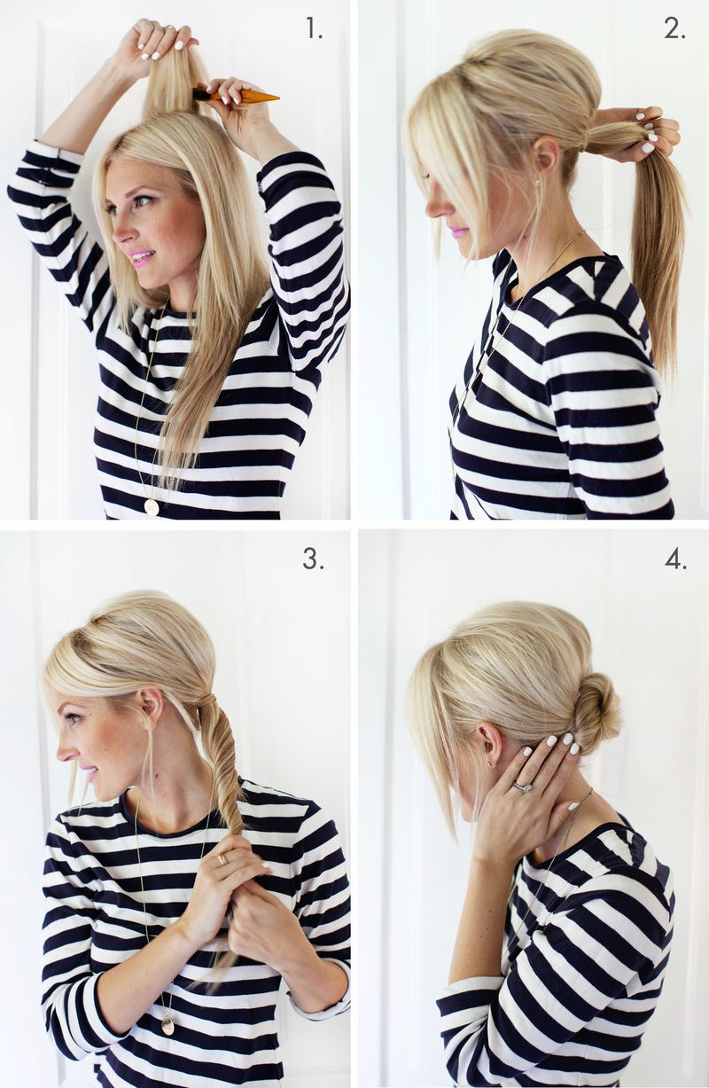 simple chignon updo - a beautiful mess