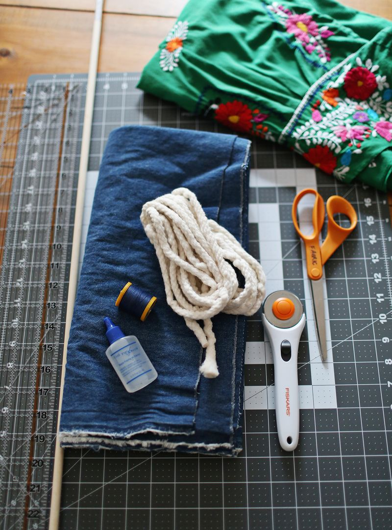 Supplies for a diy dress without a pattern