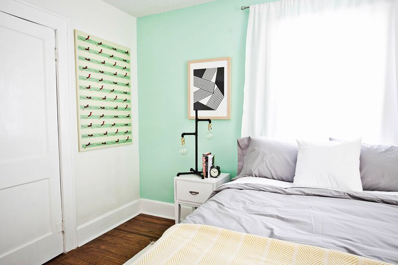 Mint bedroom