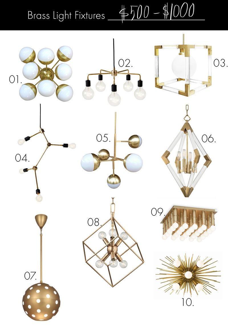 Brass Light Fixtures (on any budget!) $500-$1000