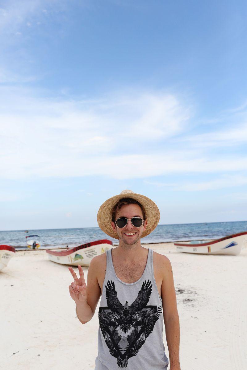 Trey at the beach