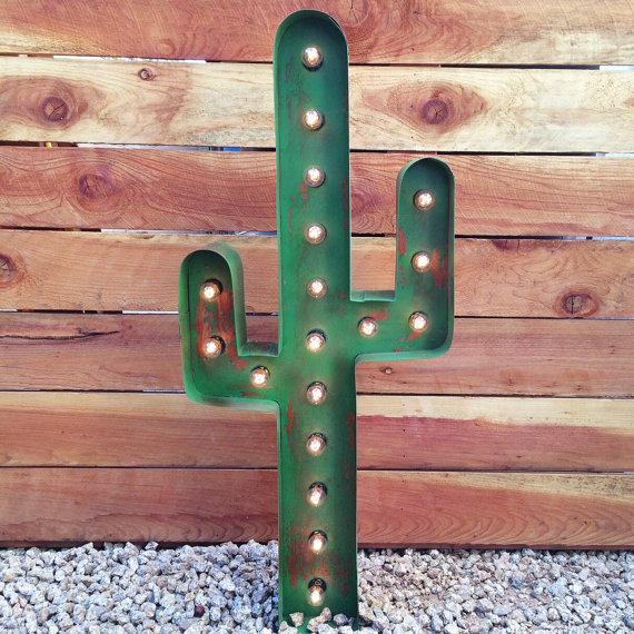 Cactus Light Up Sign