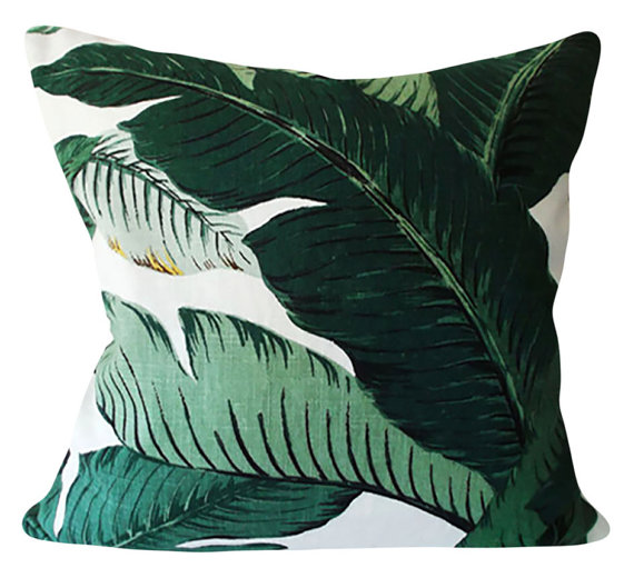 Palm print pillow