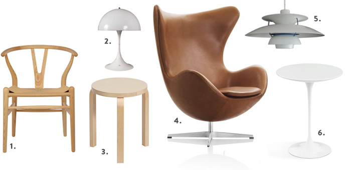 Classic Scandinavian pieces for modern interiors