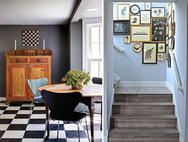 Interiors with elements inspired by New England Style