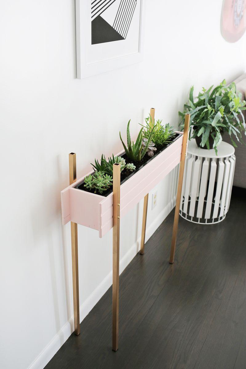 Skinny Planter Stand Diy A Beautiful Mess