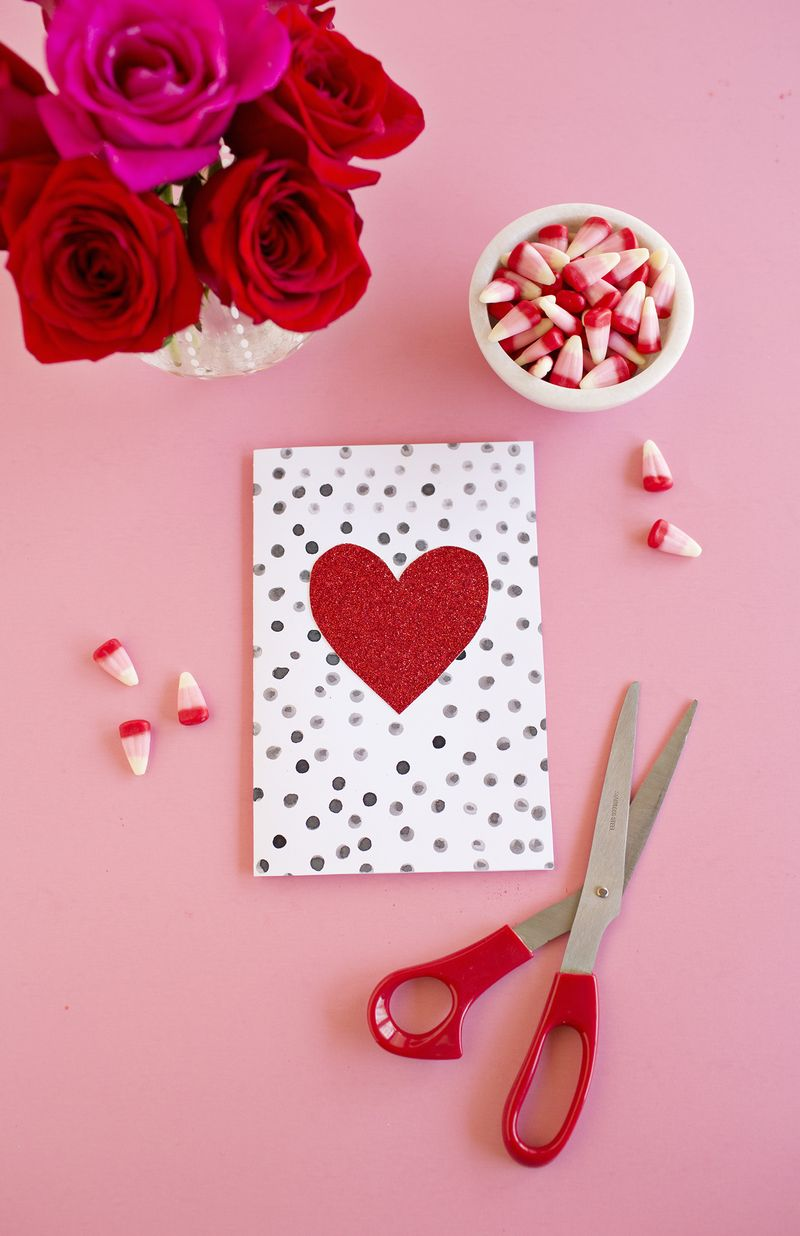 Polka dot card