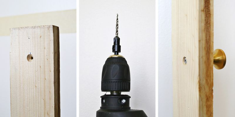 How to drill holes