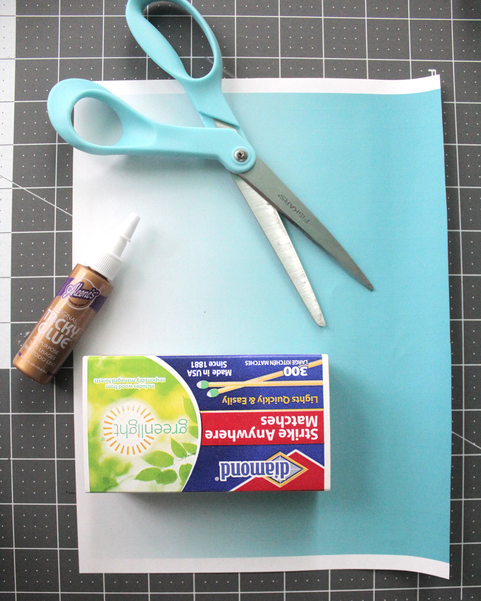Step 12- print out paper and glue or tape onto box