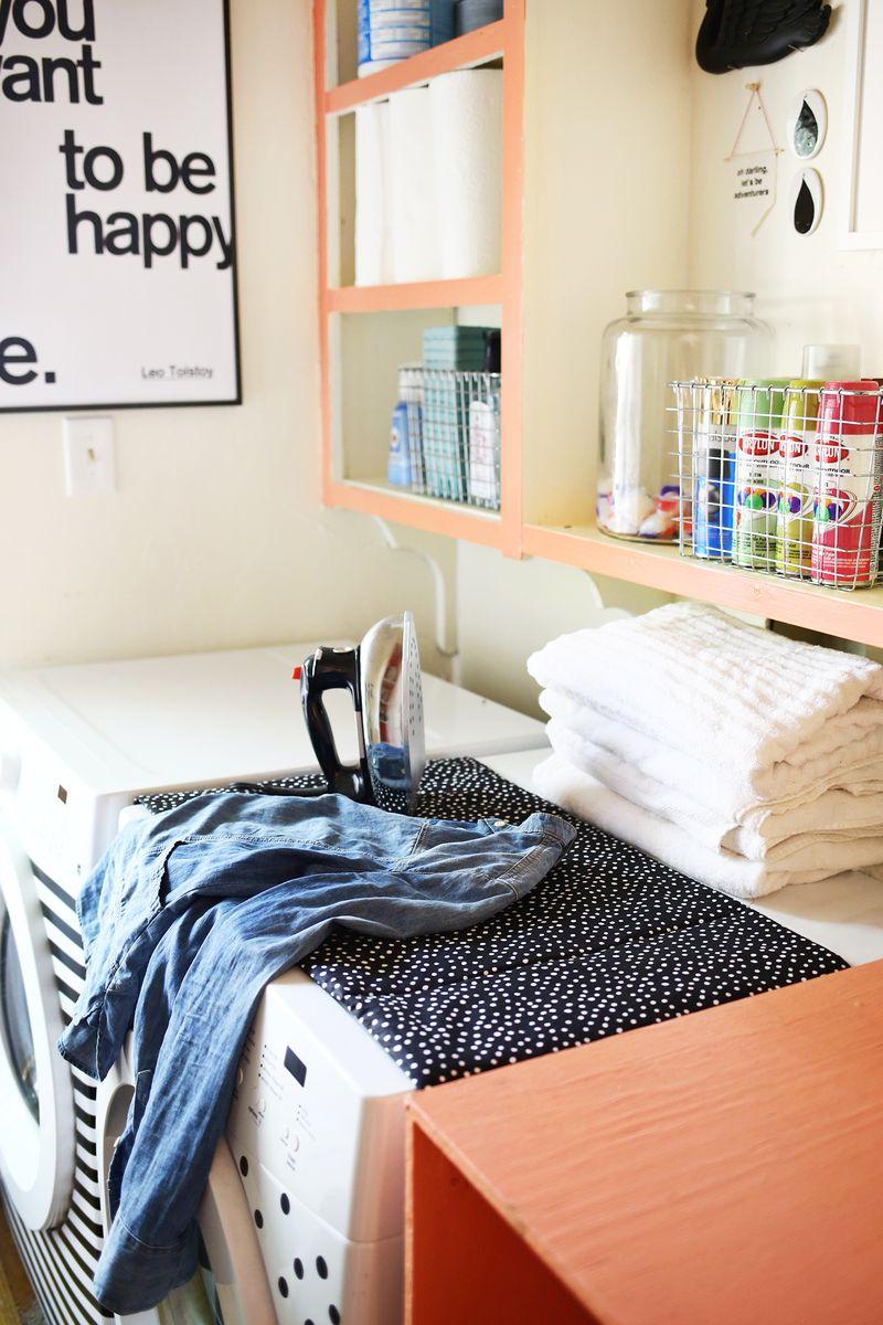 Magnetic ironing mat DIY