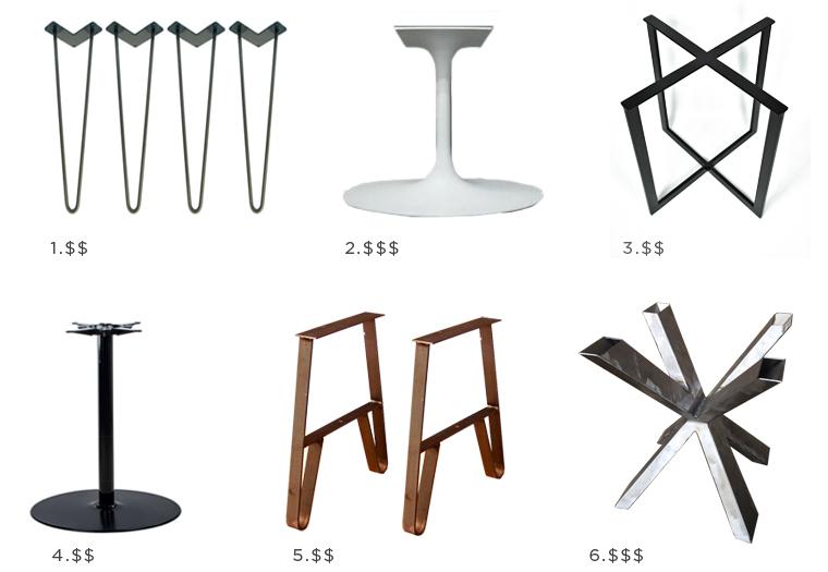 DIY coffee table bases