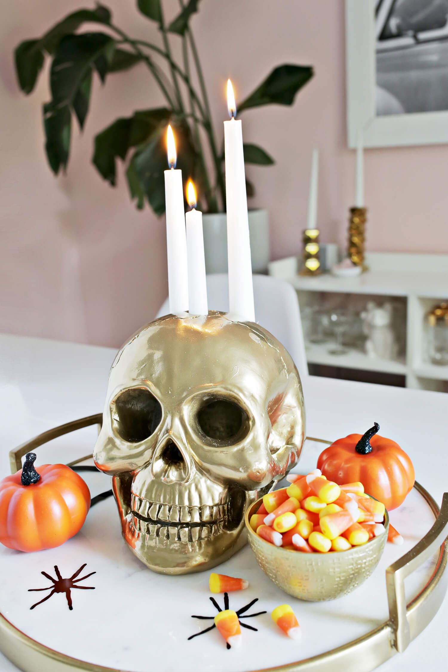 Skull Candle Holder DIY (click through for tutorial)
