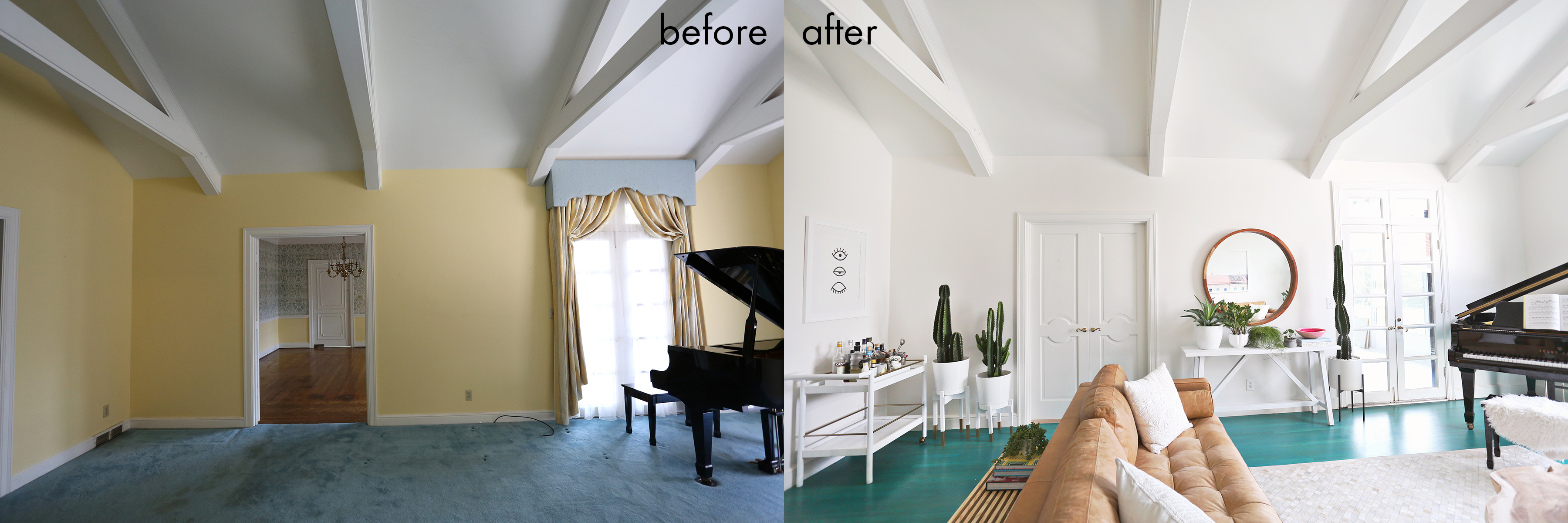 Elsie Larson's living room before + after!