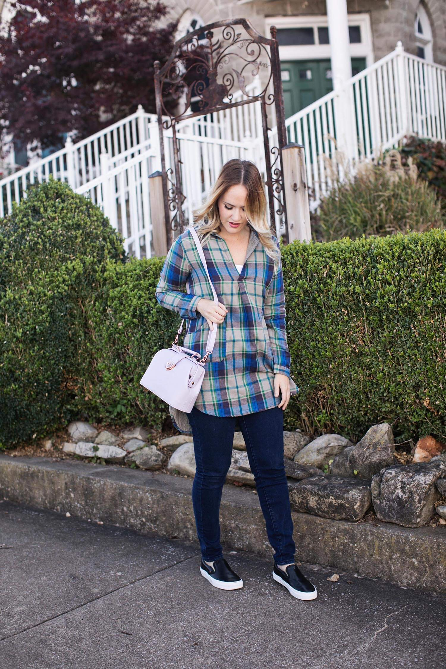 Plaid and flats