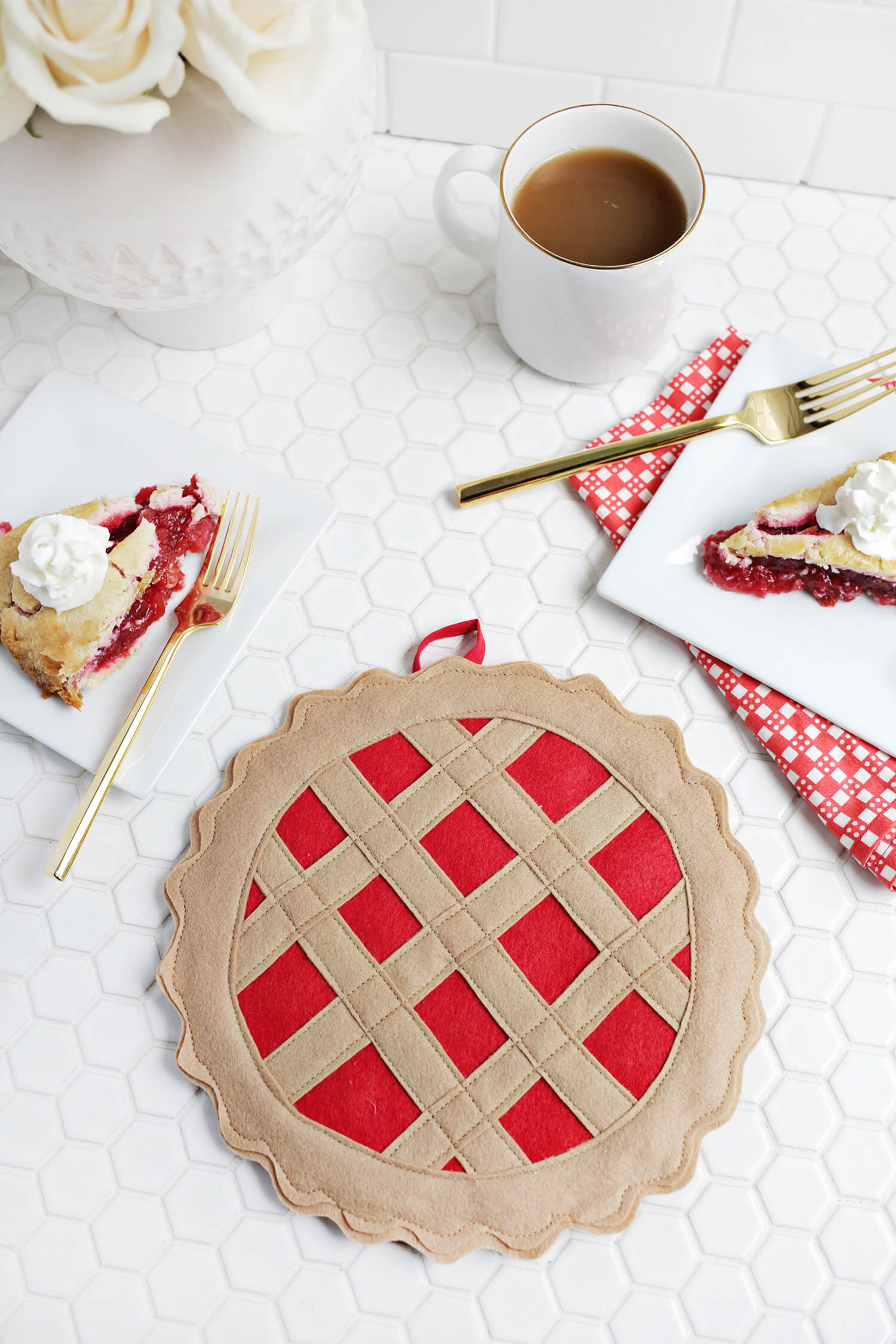 Cherry Pie Potholder DIY