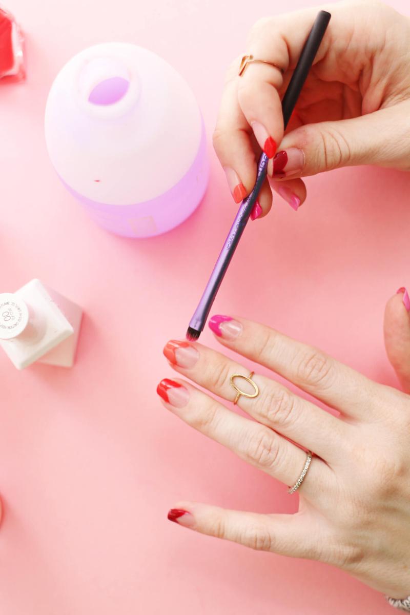 Heart Nails DIY