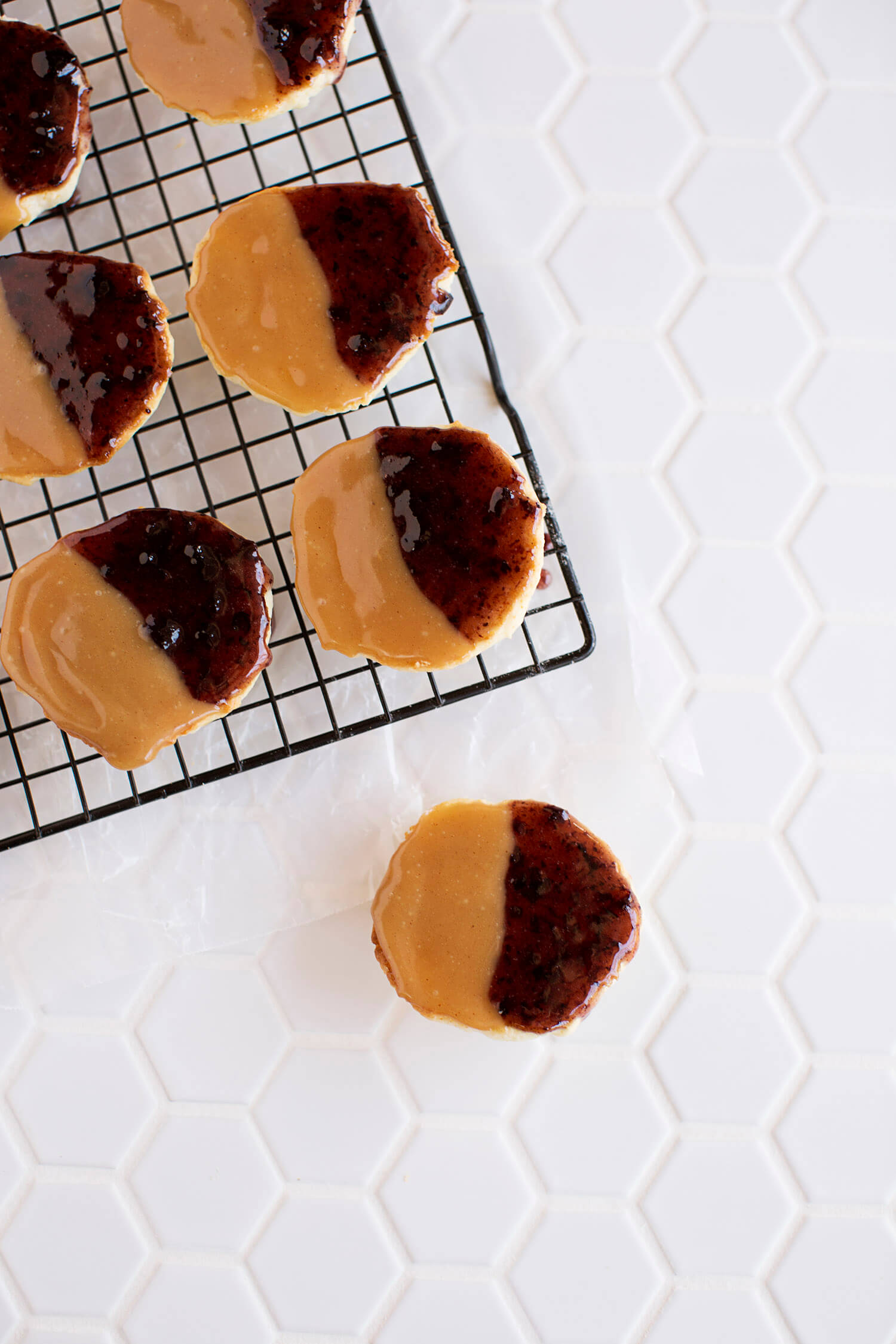 Peanut Butter & Jelly Cookies (via staging.abeautifulmess.com)