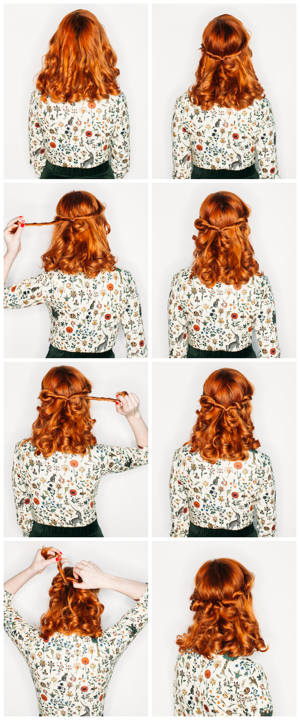 Romantic half-up twists (click-through for the full tutorial)
