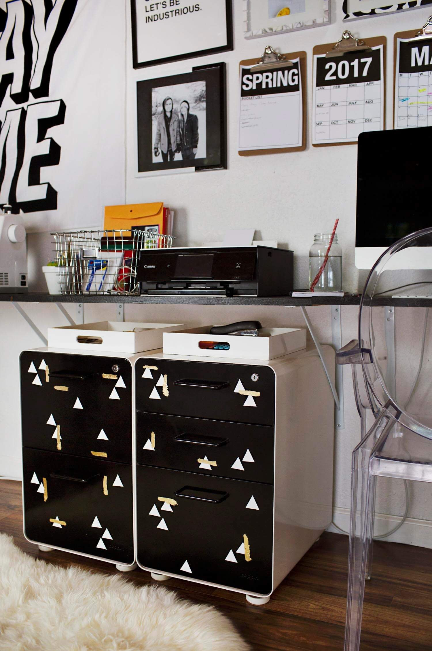 Metal File Cabinet Makeover A Beautiful Mess