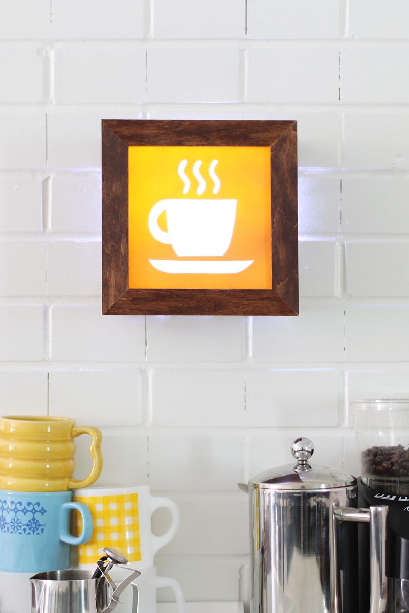 Make this fund DIY light-up cafe sign