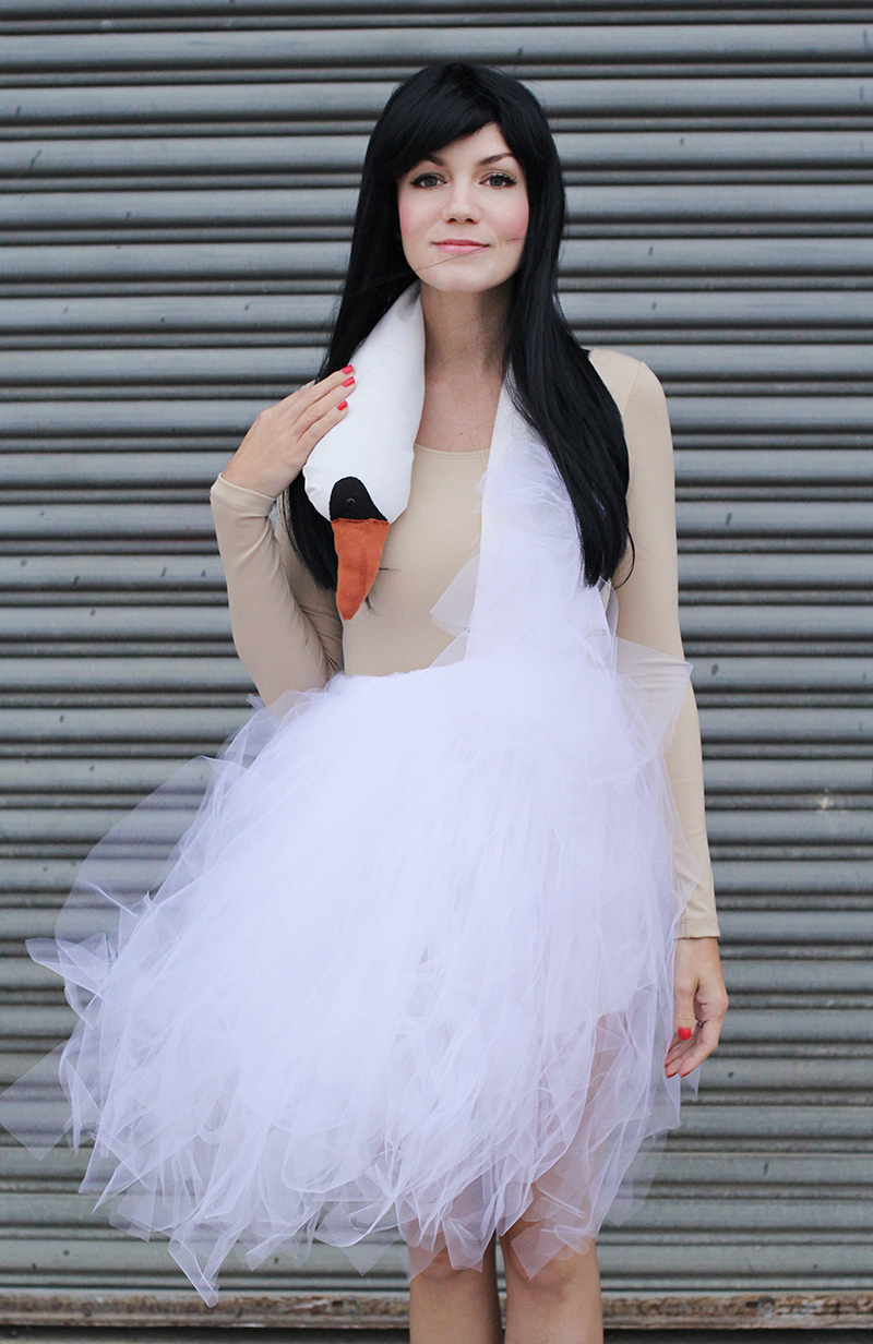 Bjork swan dress costume tutorial