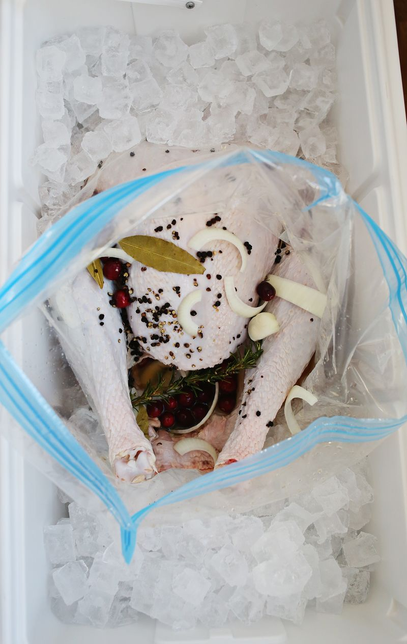 Brine your turkey overnight in a cooler