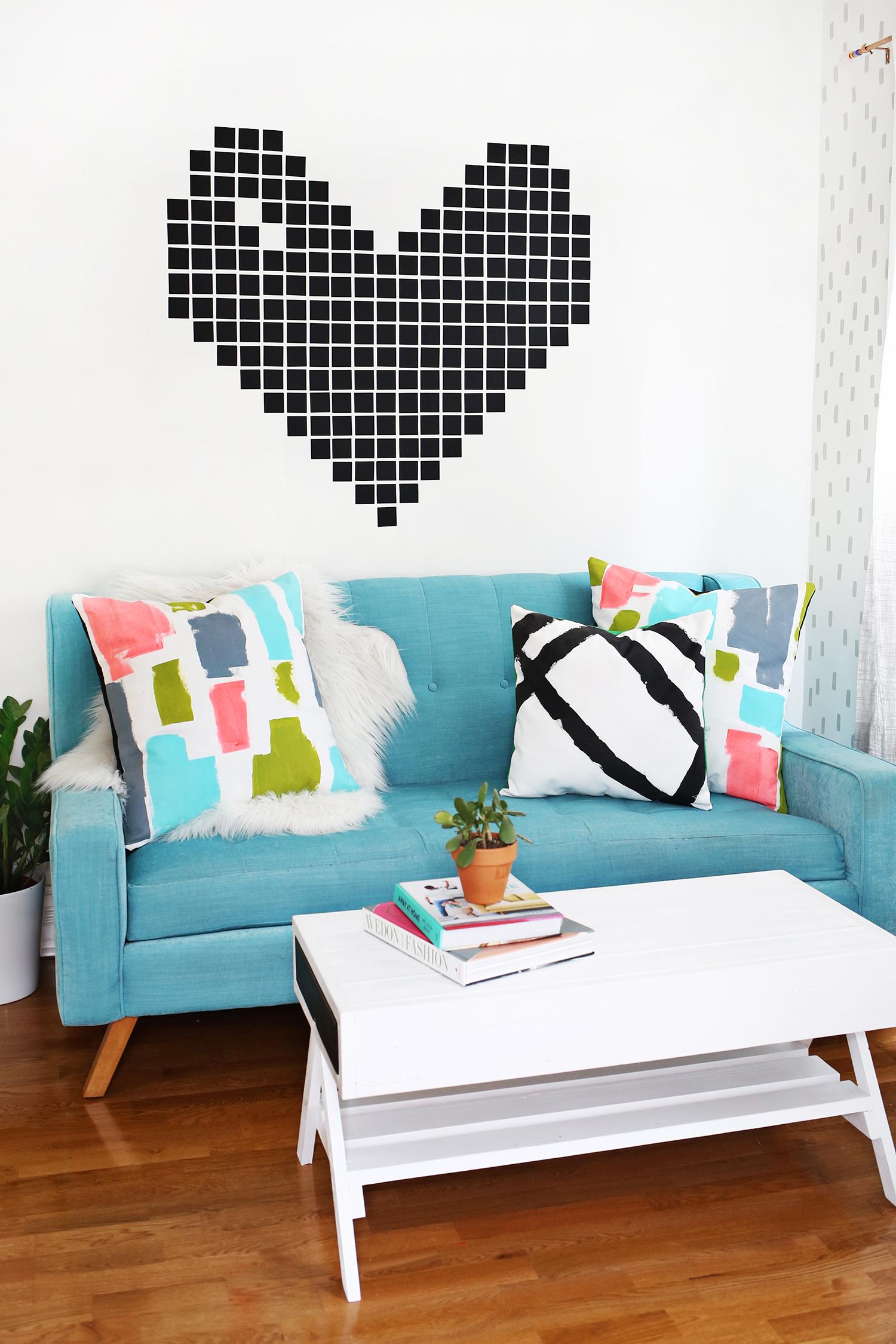Diy Abstract Painted Pillows A Beautiful Mess