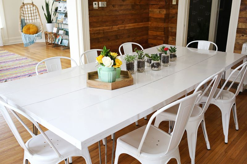 tips for painting a dining room table a beautiful mess rh abeautifulmess com paint dining room table espresso paint dining room table white