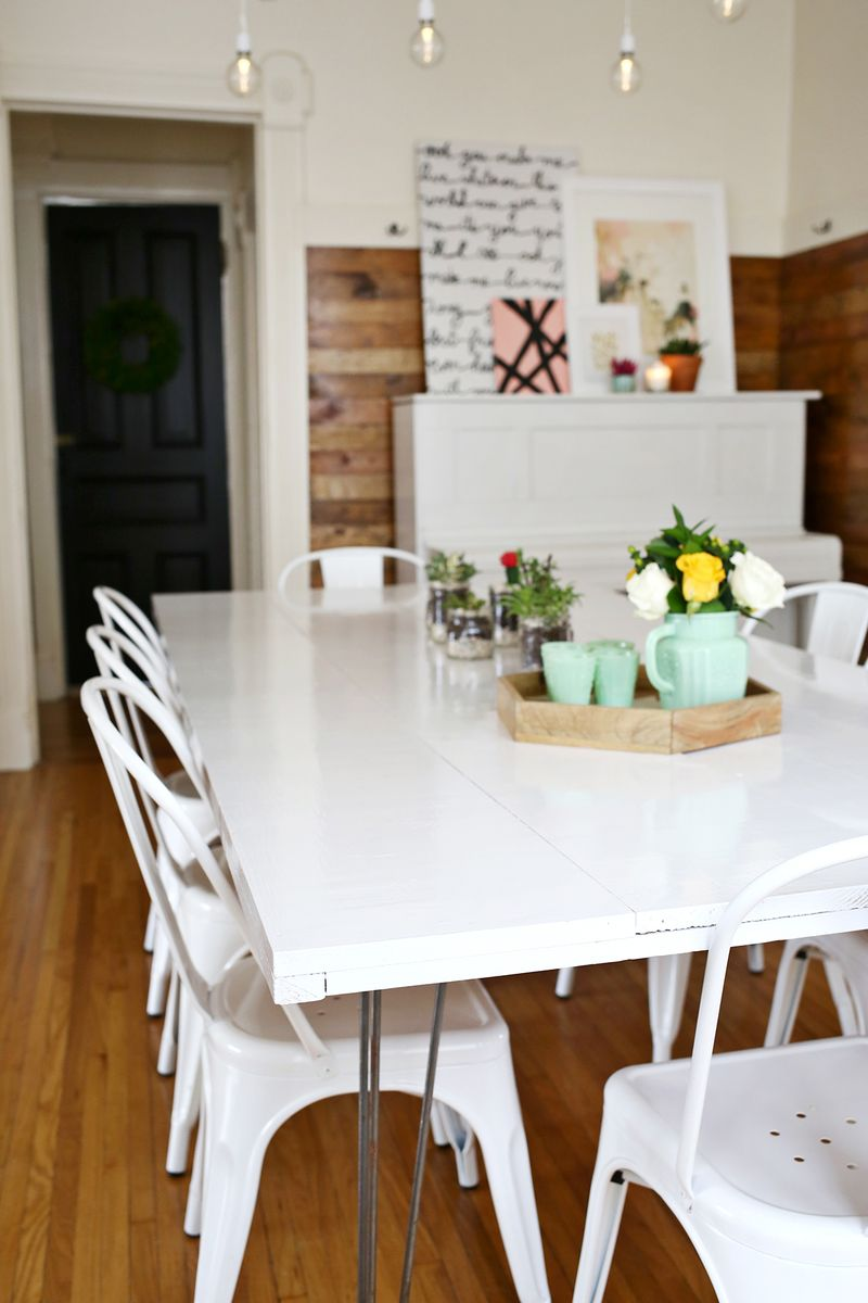Tips for painting a dining room table a beautiful mess - What you need to paint a room ...
