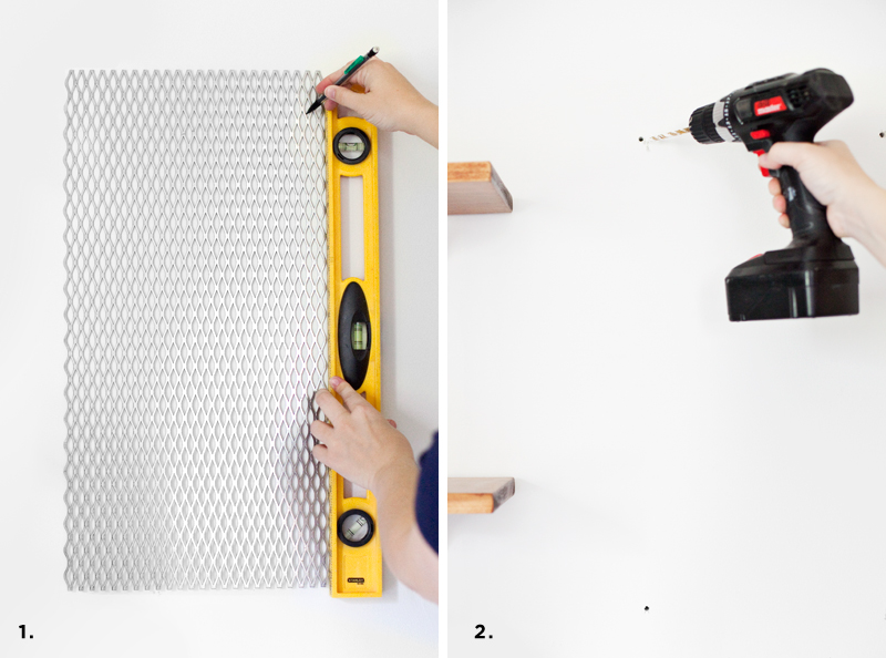 Turn a steel grate into a memo board— click through for where to buy supplies and how to hang it.