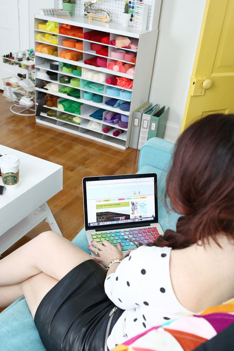 Elsie Larson's Office www.abeautifulmess.com