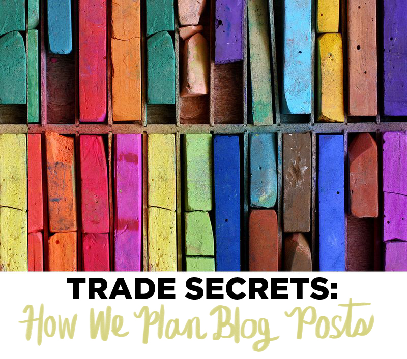 How we plan blog posts